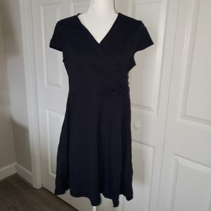 Cap sleeve midi cotton dress